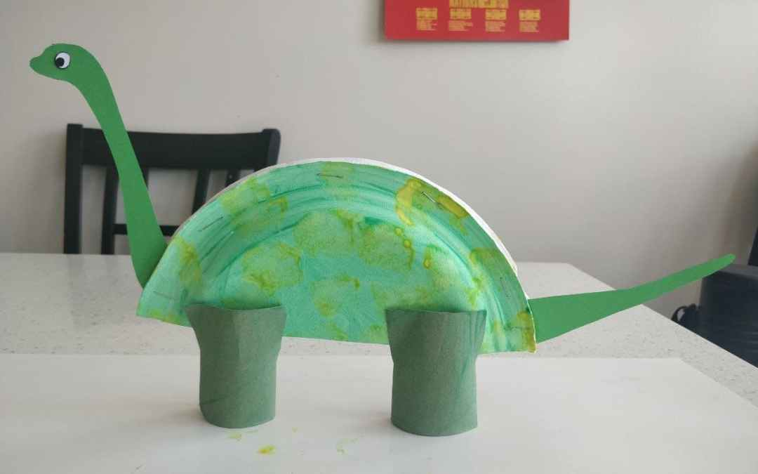 Arts & Crafts: Paper Plate Dinosaurs