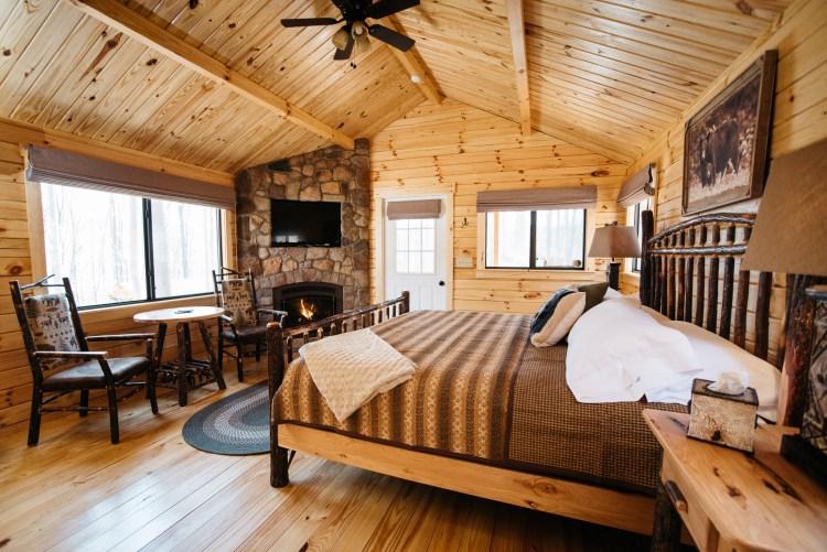 Cabin #14 Fireplace
