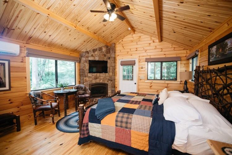 Cabin #6 Fireplace