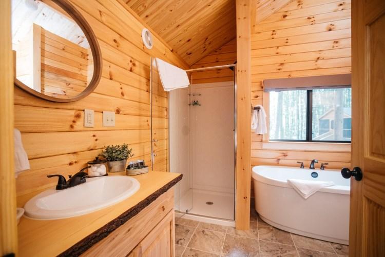 Cabin #6 Vanity & Shower