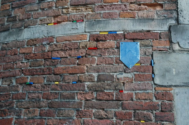 mur de briques et de légos