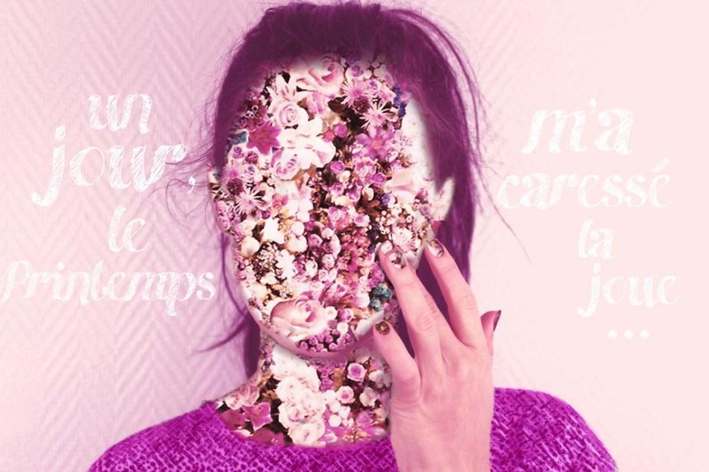 photomontage des fleurs sur mon visage