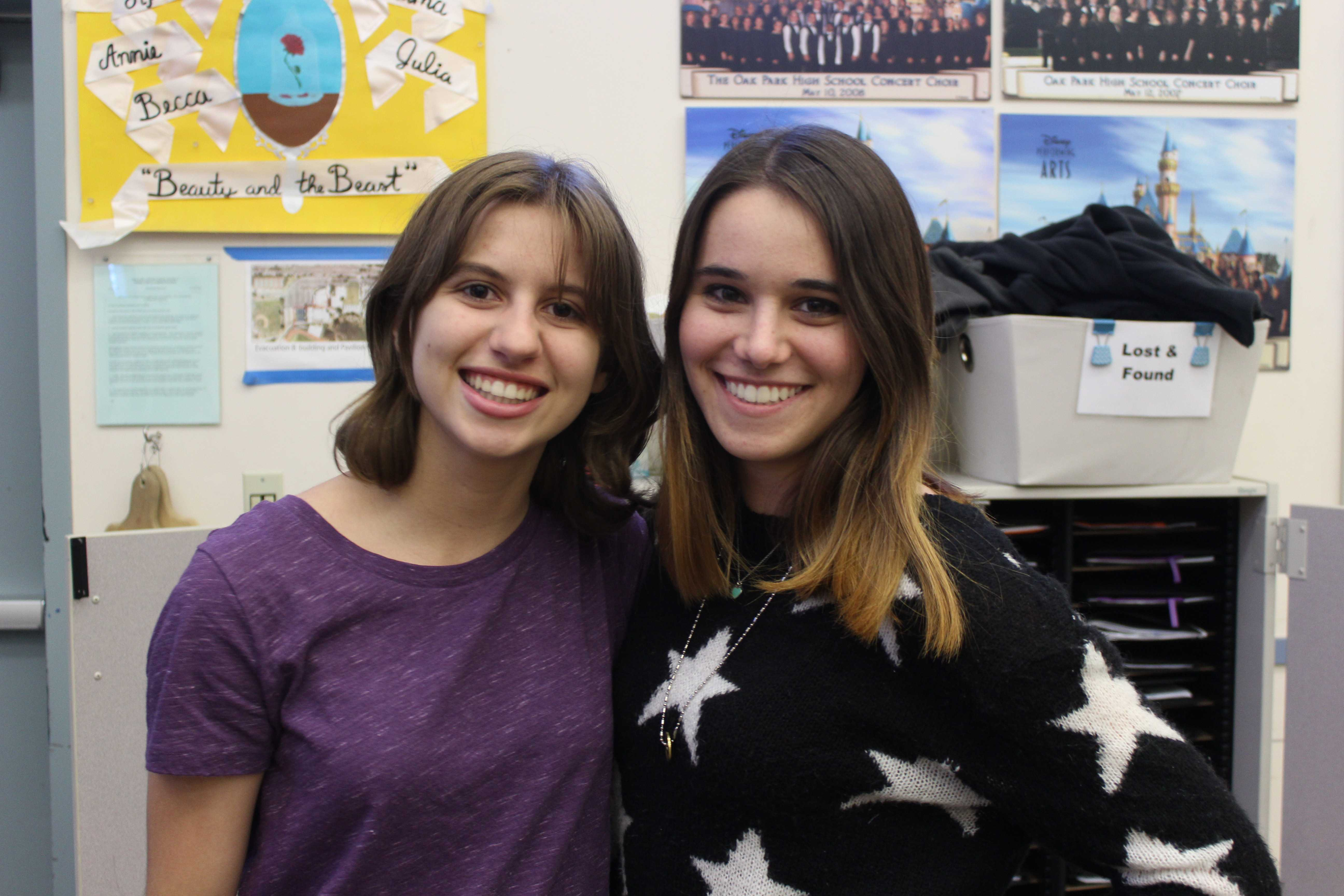Choir students Kayla Gorenstein and Megan Shoaf were selected to participate in the Southern California Vocal Association's High School Honor Choir (Akshita Dondeti/Talon).