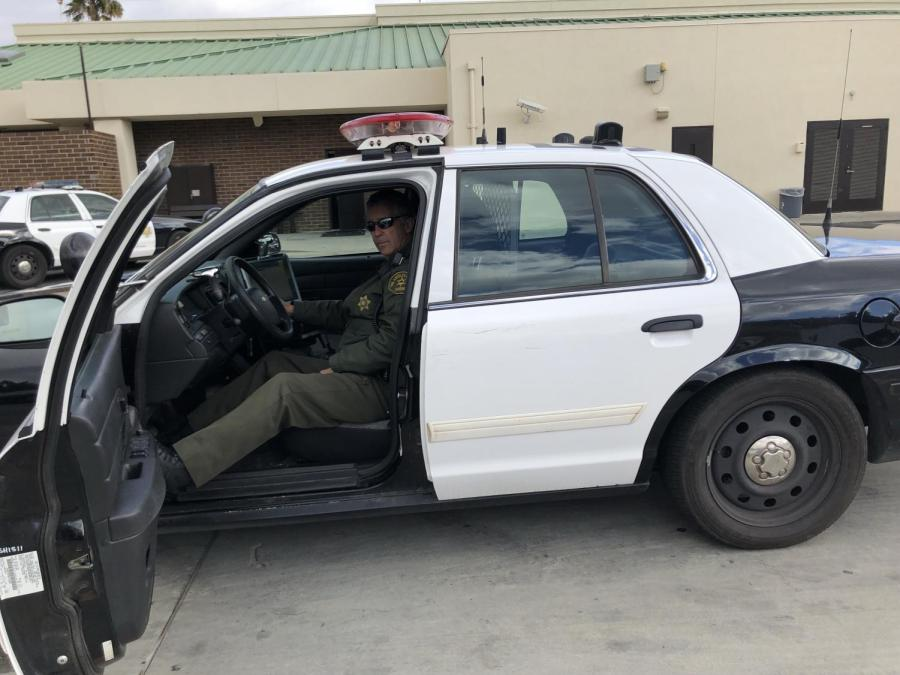 Officer+David+Diestal+in+his+police+vehicle.