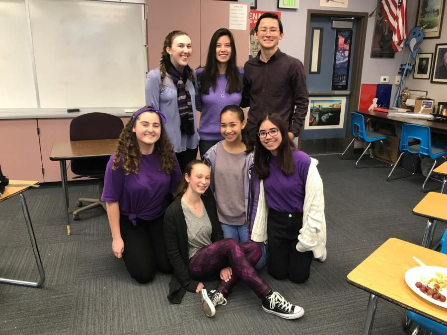 Members+of+Key+Club+wear+purple+to+remember+Gabriella+Chabot.