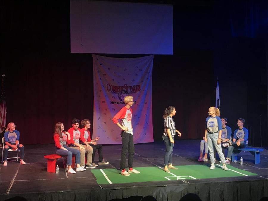 Students compete in first ComedySportz game