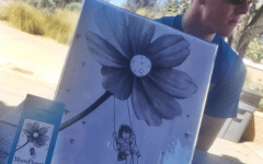 JD Slajchert with his new book Moonflower