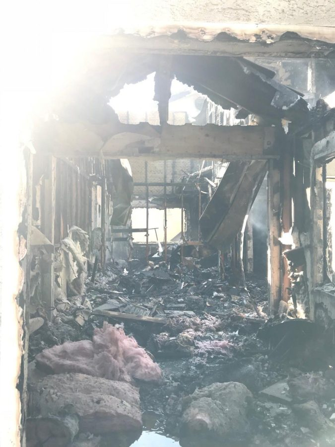 Siena Reale's living room destroyed by the fires