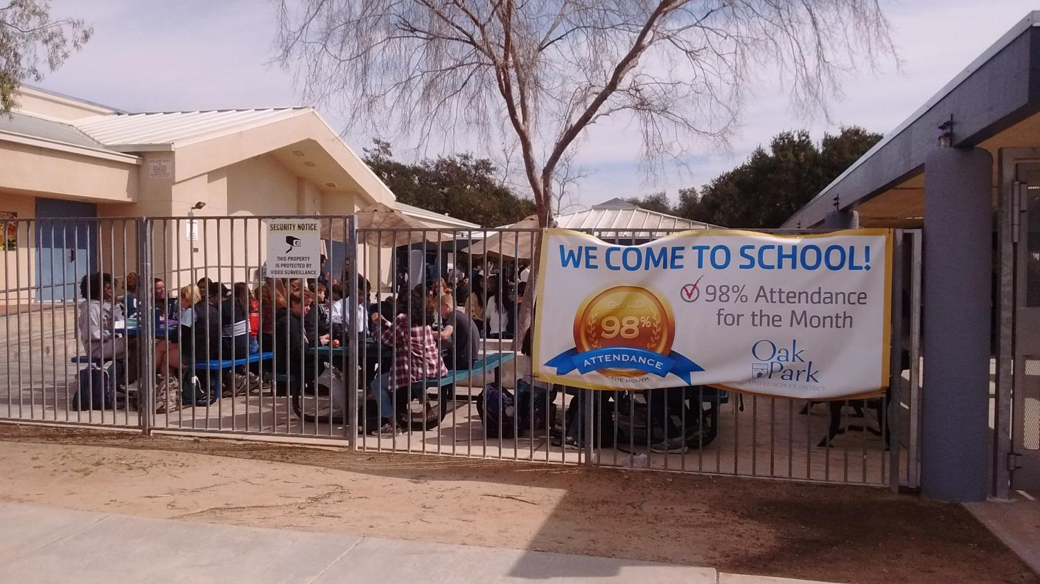 MCMS students gathera t lunch. Two MCMS students were assaulted near campus while walking home after school.