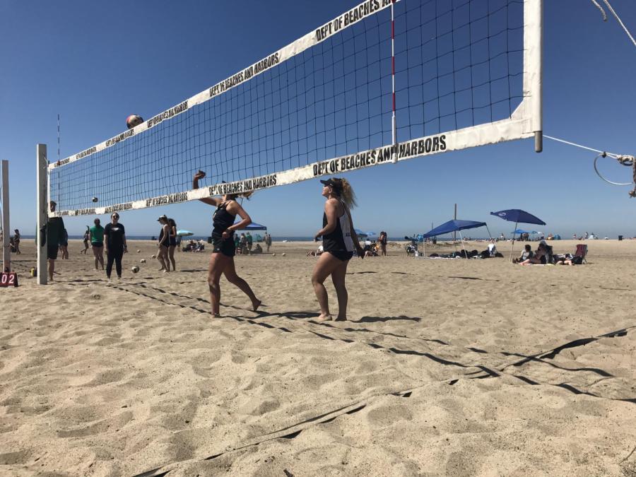 Beach volleyball grows at Oak Park.