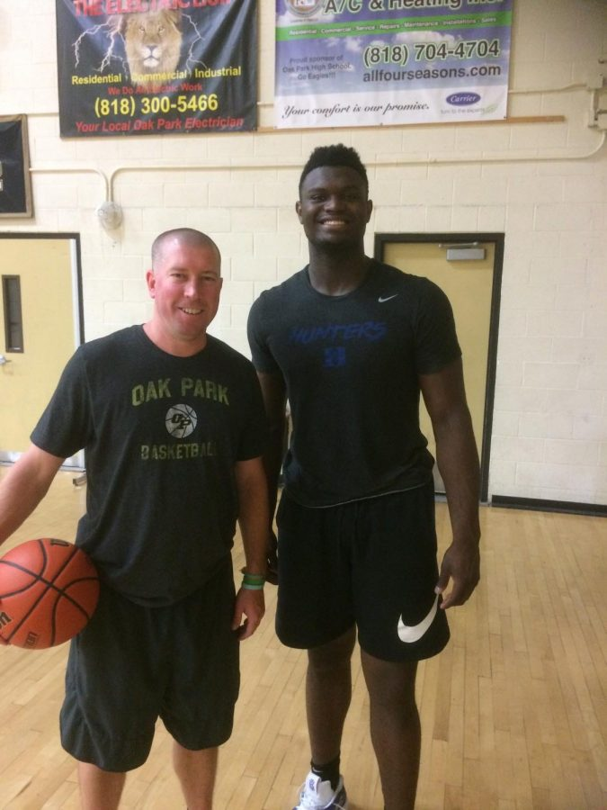 Chevalier with Zion Williamson, New Orleans Pelicans (NBA) during summer conditioning.