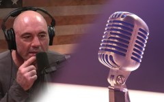 Joe Rogan (pictured above) has a podcast that amasses over 200 million downloads a month across platforms.