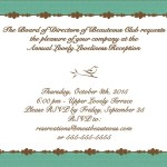 invitation design with bird and leaf elements