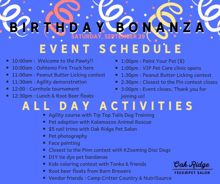 21st Event Schedule
