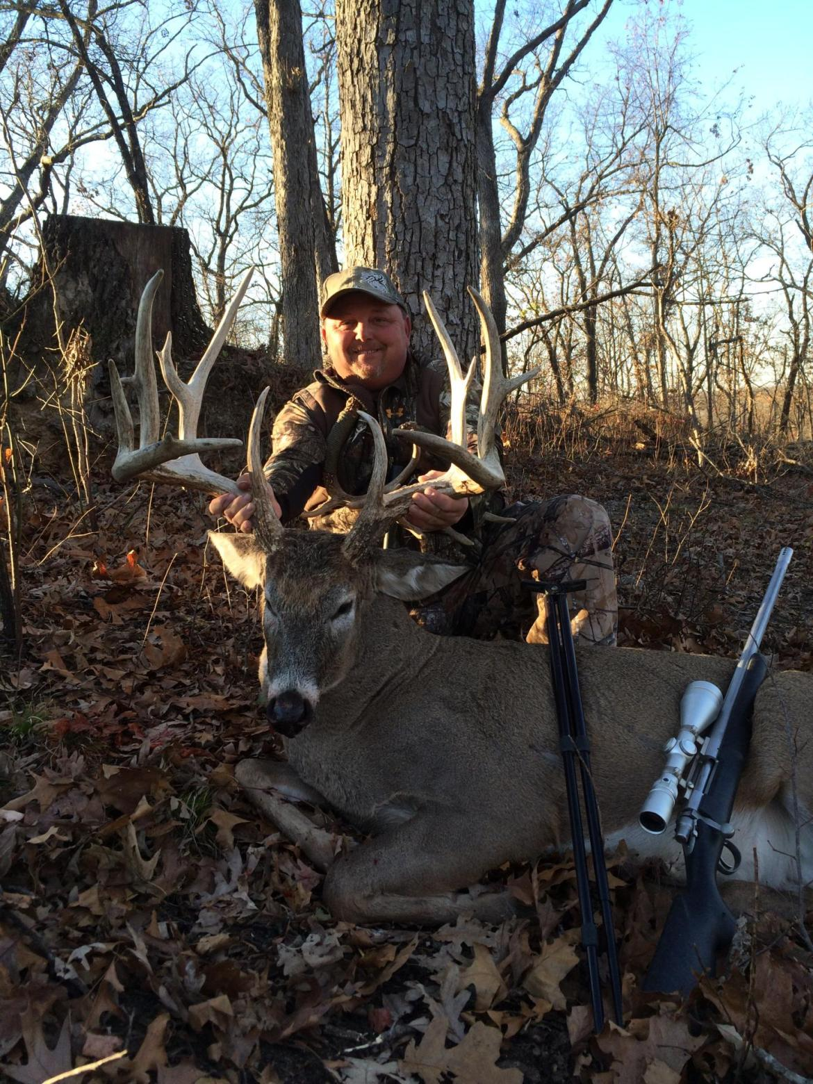 Whitetail Deer hunting lodge