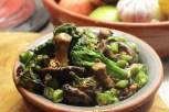 Sautéed Mushrooms and Tender Stem Broccoli