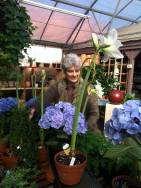 Kris with the amaryllis