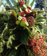 Mailbox Decoration - Cut Greens And Berries
