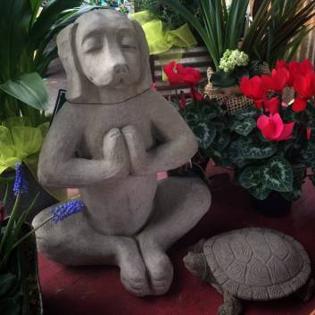Yoga Dog And Turtle Statuary - Spring 2017