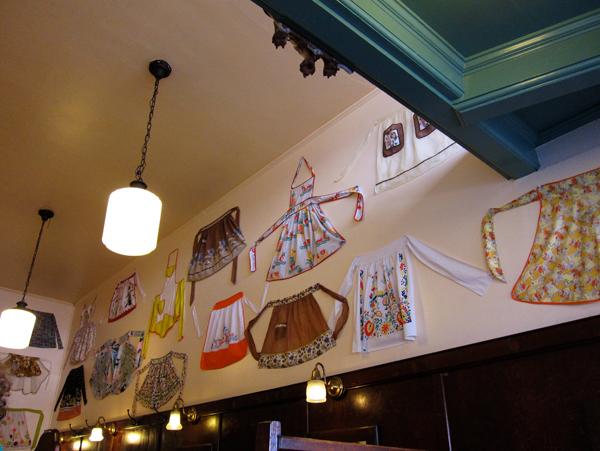 vintage aprons at mama's royal cafe