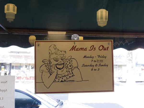 sign at mama's royal cafe