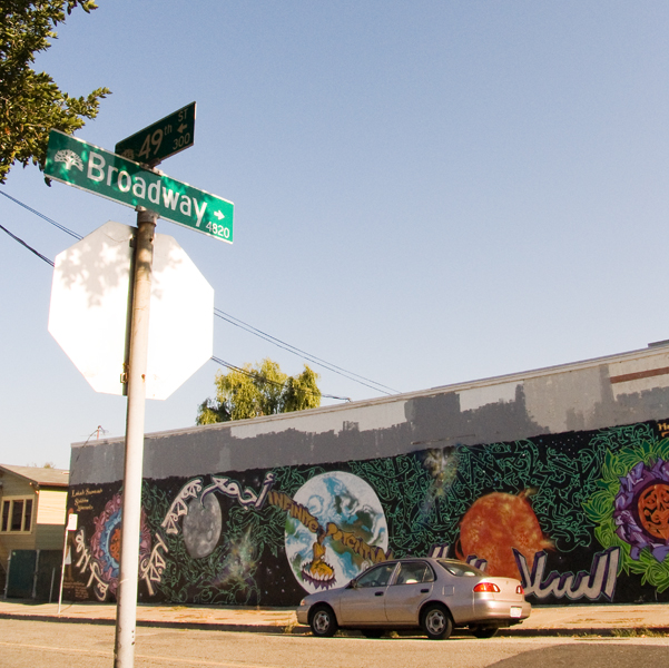Oakland Mural at Broadway and 49th