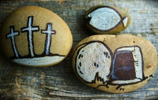 Easter Service, Tomb Crosses | Oakwood United Methodist Church, Lubbock Texas