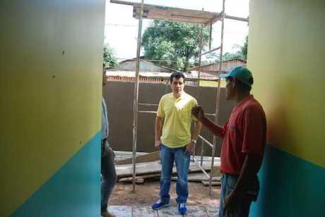 Obra de ampliação da escola Edilsa Maria Batista
