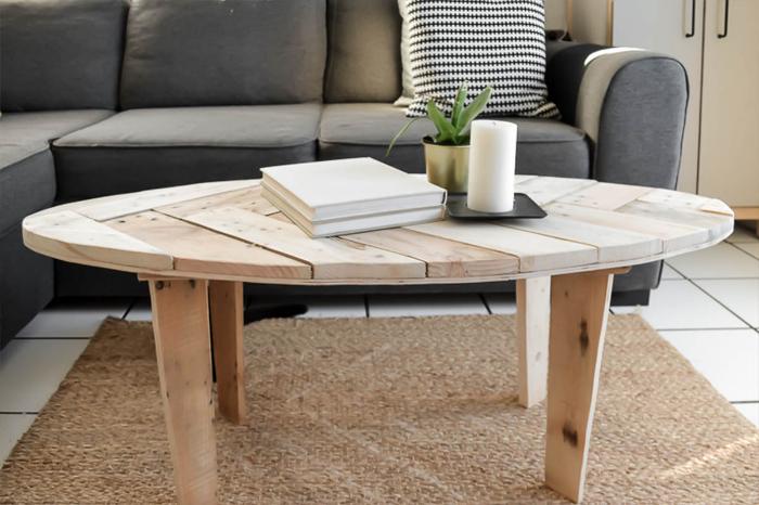 une table basse en palette oui are makers