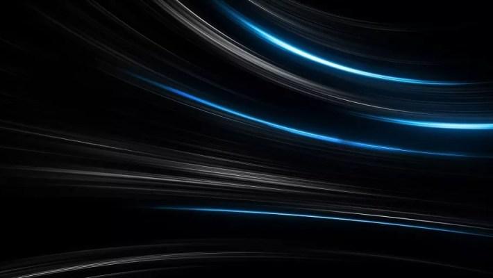 em um fundo escuro, feixes de luz azul representando velocidade