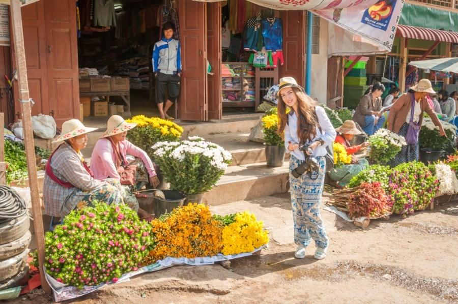 Zi de piata in Heho_Myanmar