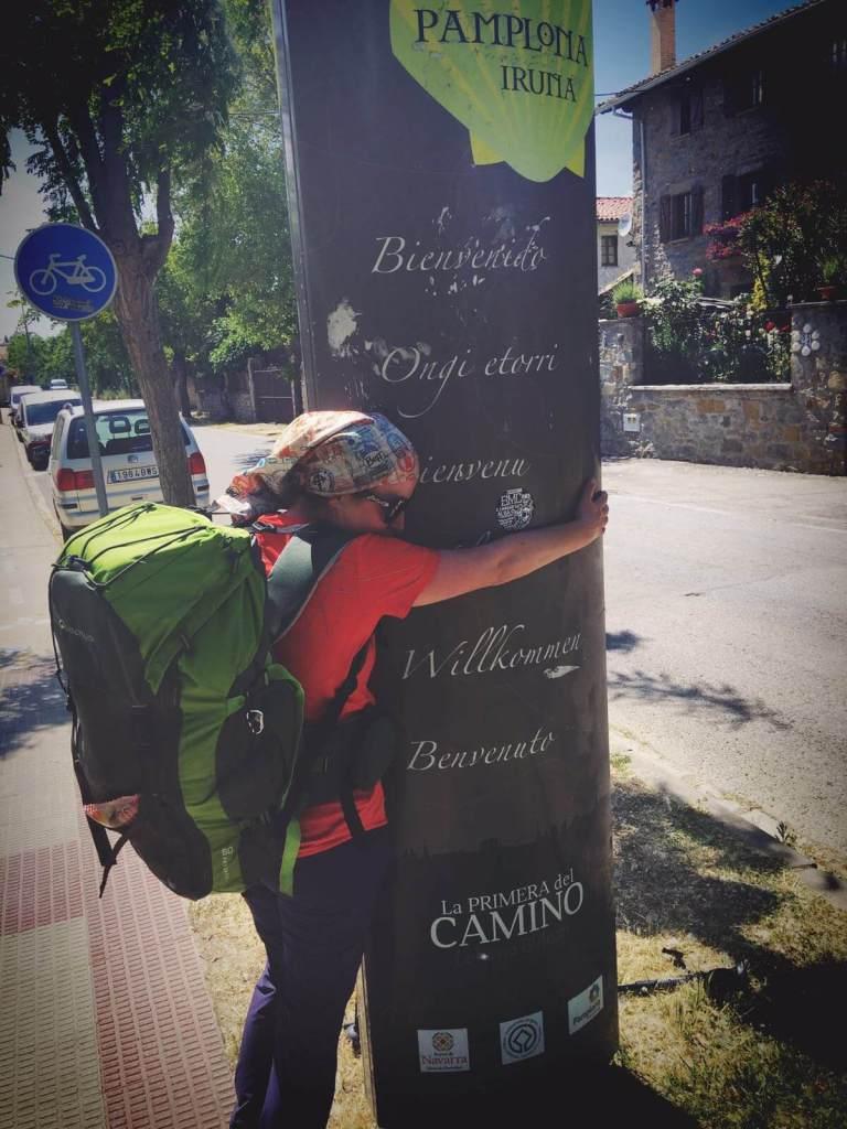 Veronica pe Camino in ziua 3, intrarea in Pamplona