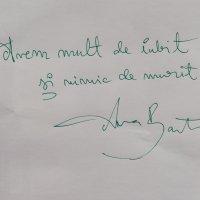 Ana Barton scoate iubirea din #dincălimară și-o scrie de mână