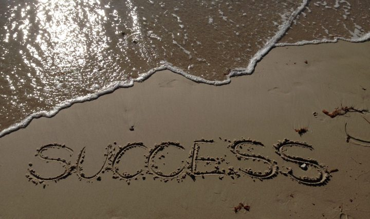 Success written in the sand
