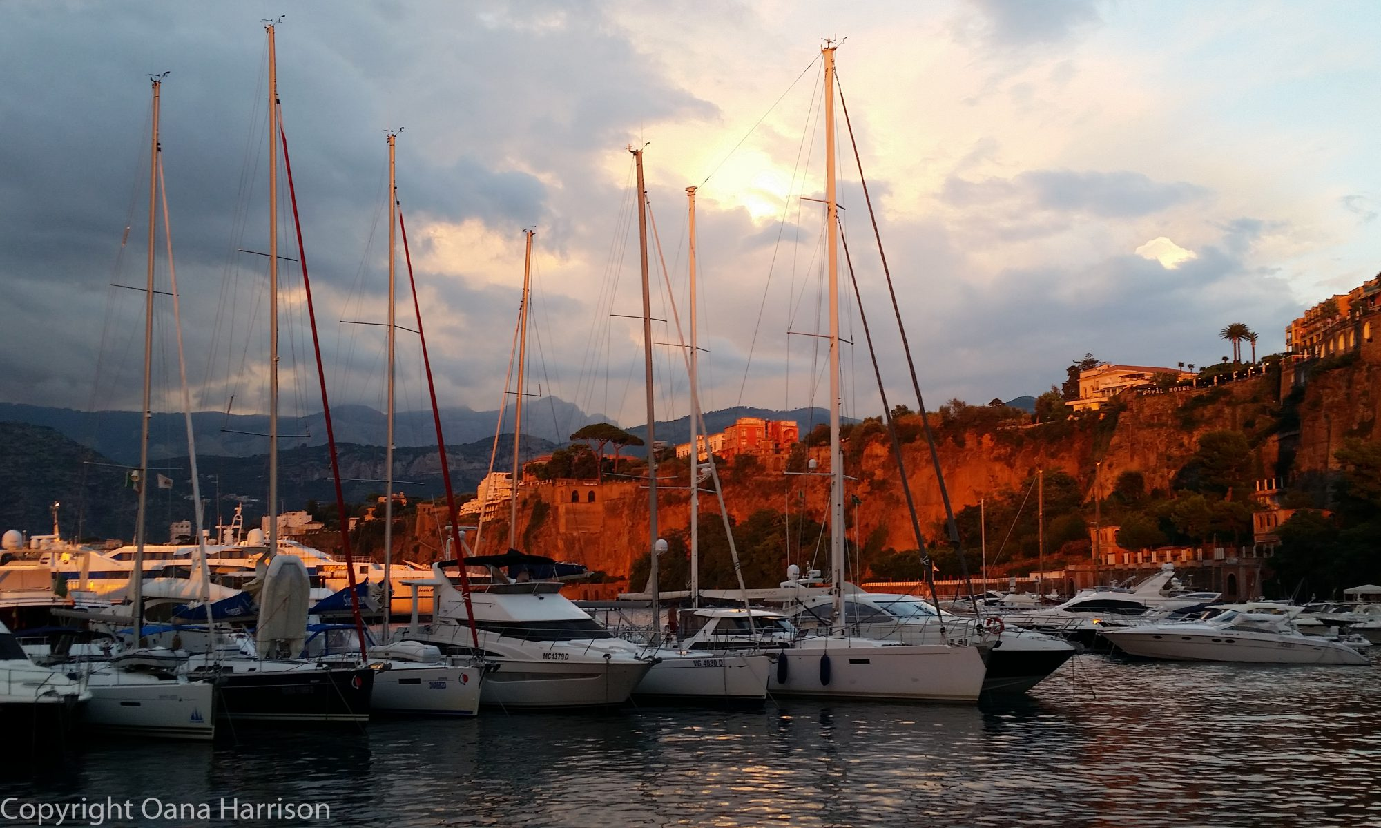 Sorrento, Italy sunset in the marina - Oana Harrison
