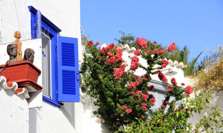 Blue window, Hydra, Greece, Imagination, Oana Harrison