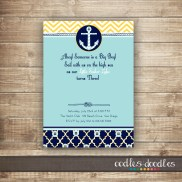 Nautical Birthday Invitation, Printable, by Oodles and Doodles, OandD
