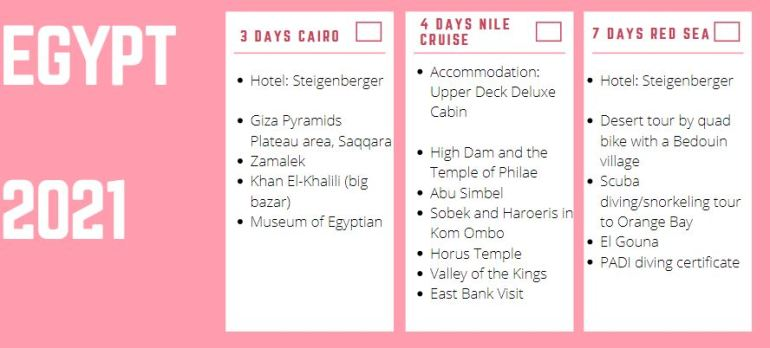 two weeks itinerary Egypt