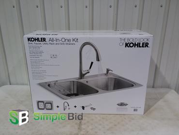 simplebid inc kohler all in one kit sink faucet