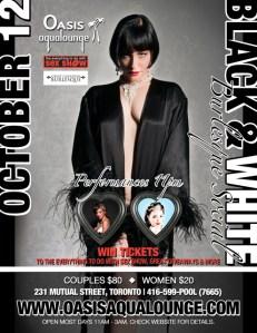Black & White Burlesque Social @ Oasis Aqualounge | Toronto | Ontario | Canada