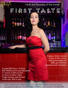 First Taste For Sex Club Newbies @ Oasis Aqualounge | Toronto | Ontario | Canada