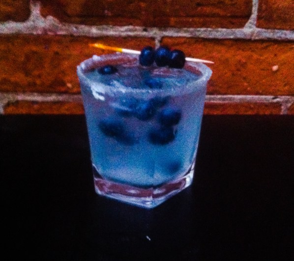 'Blue Balls' Winning cocktail for Bar Wars. Created by Oasis bartender Kelly