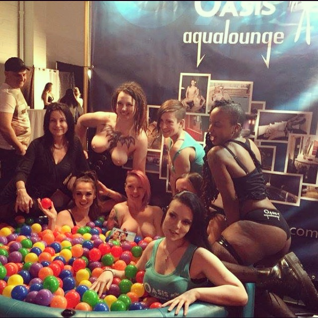 Adult film star Tori Black in our ball pit!