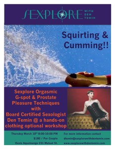 Squirting & Cumming Poster