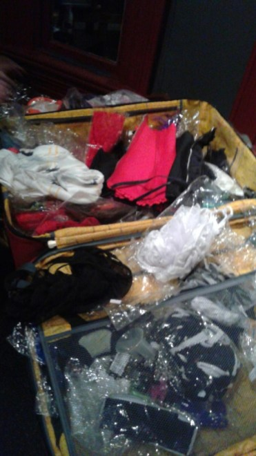 A naughty suitcase full of free sexy outfits-courtesy of The Wratens