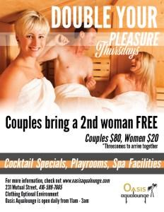 Double Your Pleasure & Canadian Sex Research Forum @ Oasis Aqualounge   Toronto   Ontario   Canada