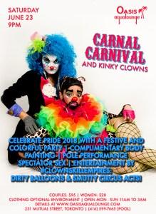 Carnal Carnival & Kinky Clowns: Pride 2018