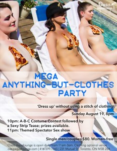 MEGA Anything-But-Clothes Party
