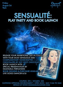 Sensualité; Play Party & Book Launch