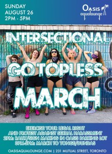 Intersectional  Go Topless March